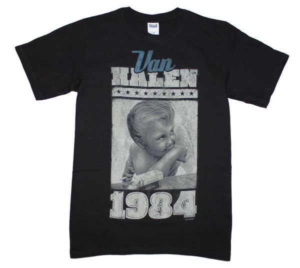 Van Halen 1984 Smoking Baby T-Shirt is available at Rocker Tee.