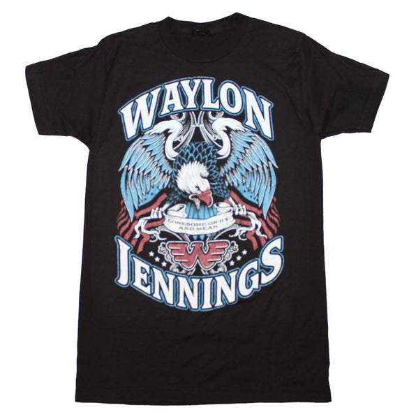 Waylon Jennings Lonesome, On'ry And Mean T-Shirt is available at Rocker Tee.