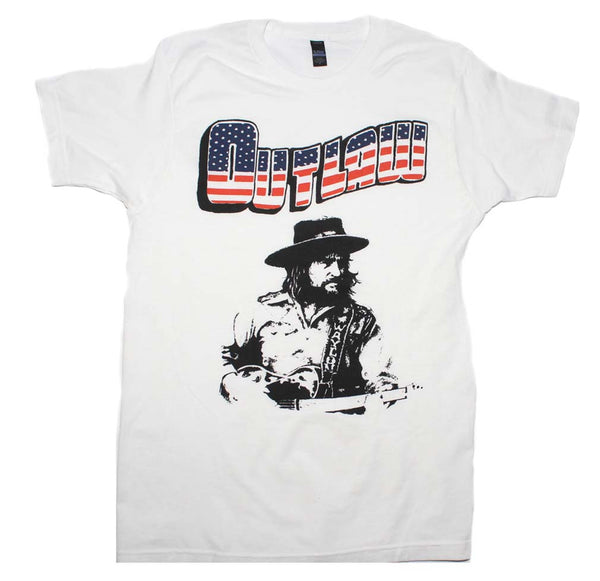 Waylon Jennings Outlaw T-Shirt is available at Rocker Tee.