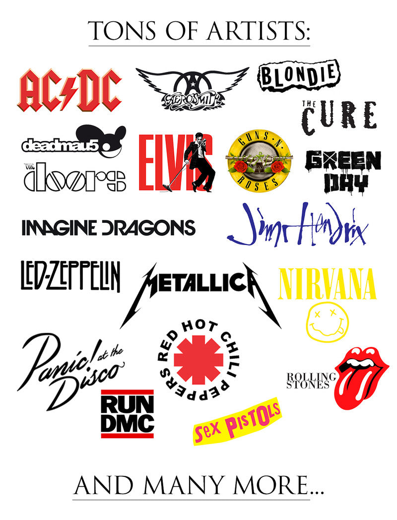 music memorabilia, rock t-shirts