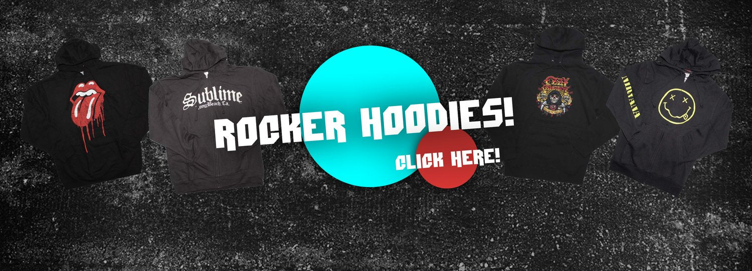 Rock T Shirts and Hoodies