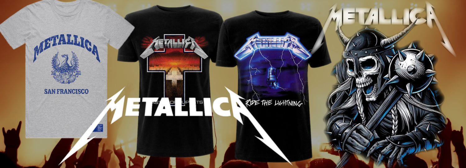 Officially licensed Metallica t-shirts