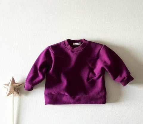 Star Fleece Pullover - Purple