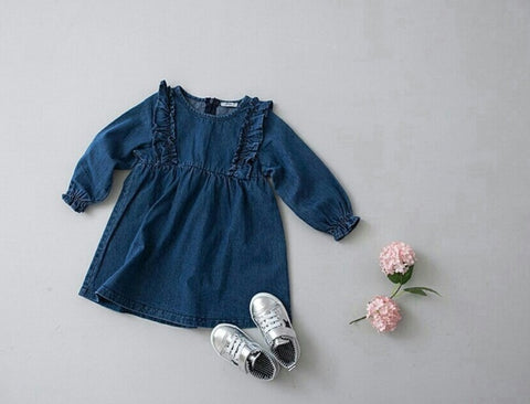 Jean Ruffle Dress