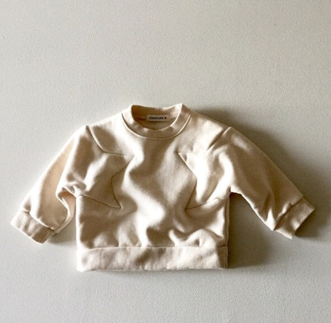 Star Fleece Pullover - White