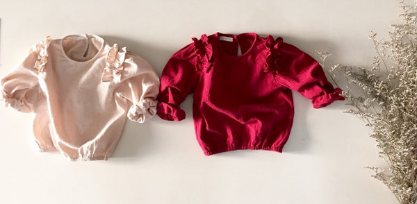 Ruffle Top - Red