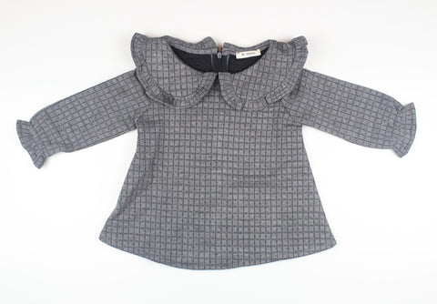 Quilted Blouse - Charcoal