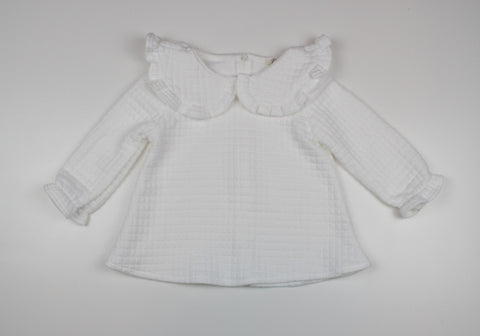 Quilted Blouse - White