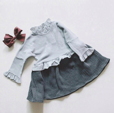 Frill Dress - Grey