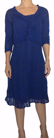 Vestido Azul con Cardigan (US 6 / IT 42)
