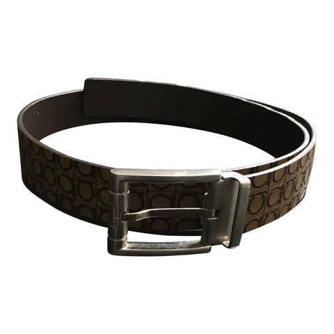 Gancini Leather Belt
