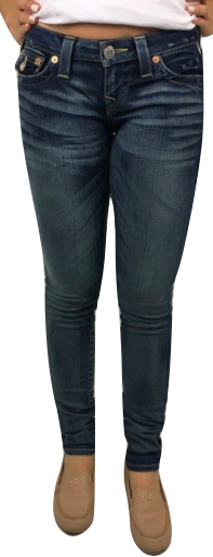 Vintage Skinny Jeans Azul Oscuro, (US.,27)
