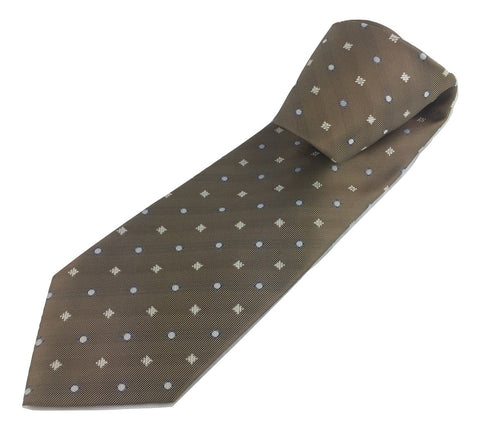 Corbata Marrón Estampada