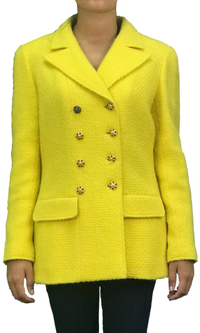Blazer de Tweed Amarillo, (44FR./ US., 12)