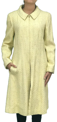 Abrigo de Tweed Amarillo Pastel, (44FR./ US., 12)