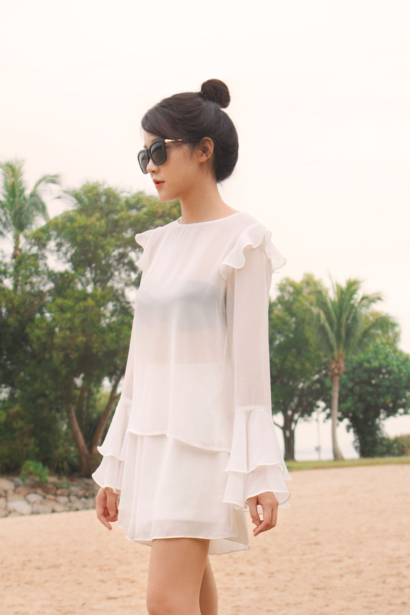 Ruffled Sleeves Blouse