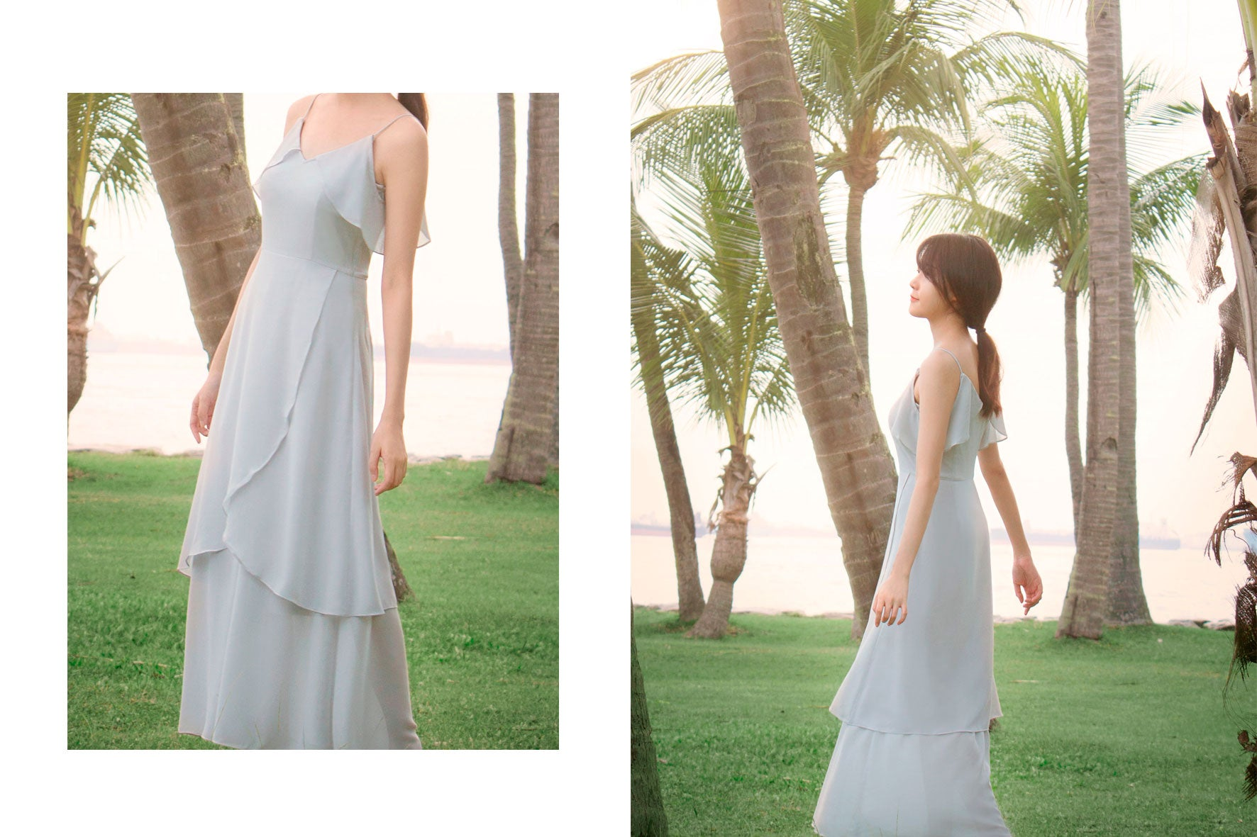 Drop-Shoulder Maxi Dress