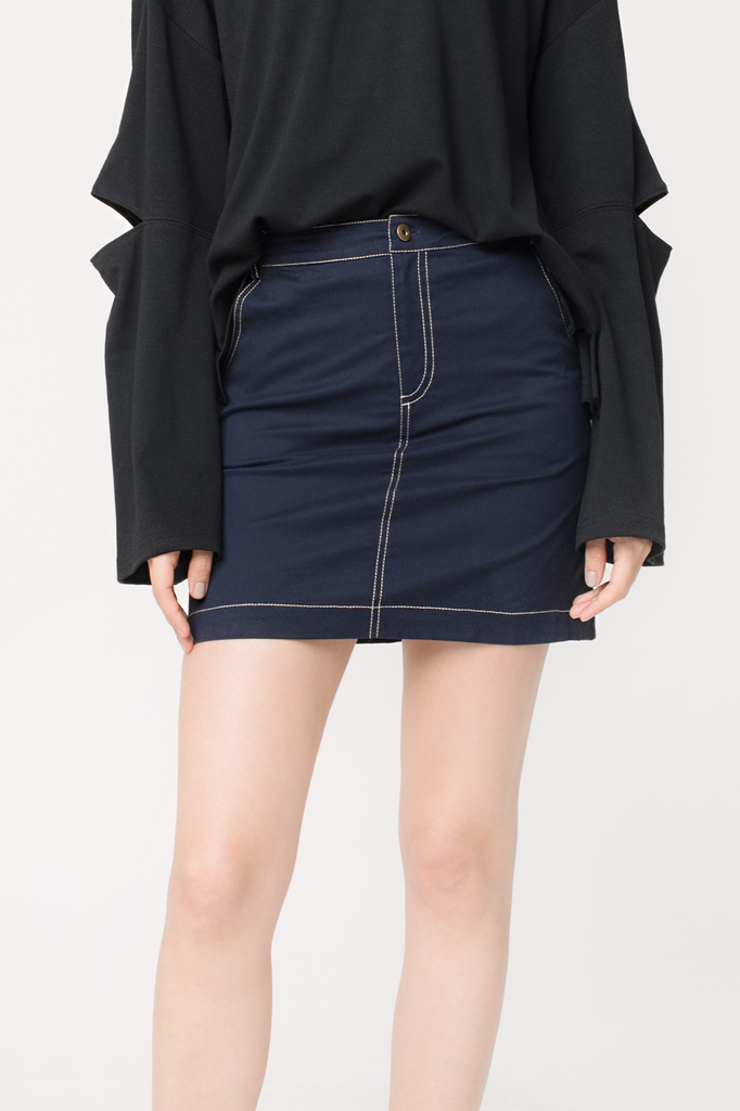 Contrast Thread Skirt