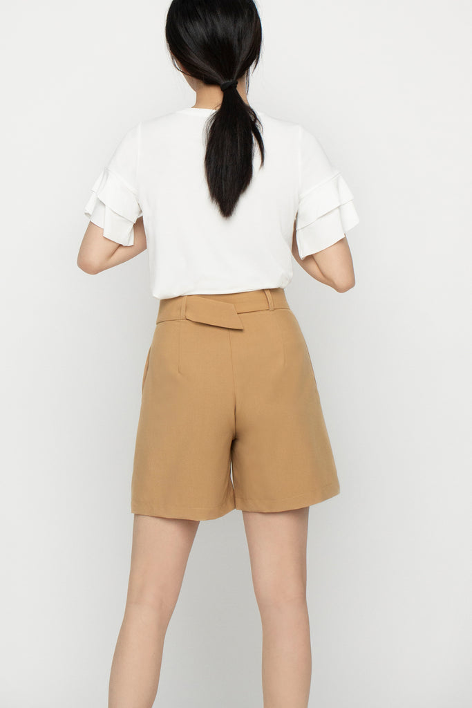 Buckle Belted Shorts