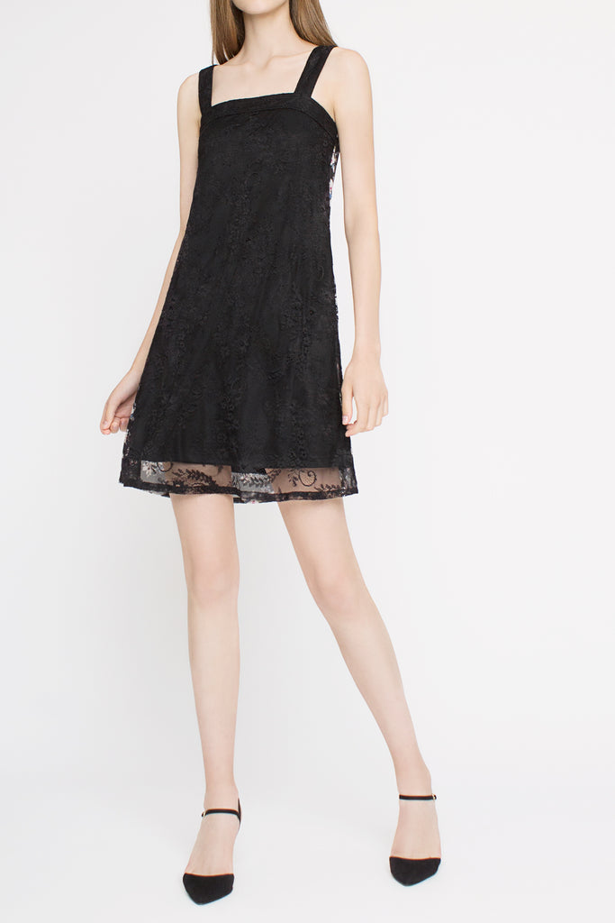 Floral Lace Reversible Dress