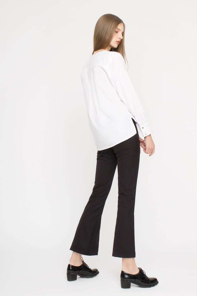 Lace-insert Flare Pants