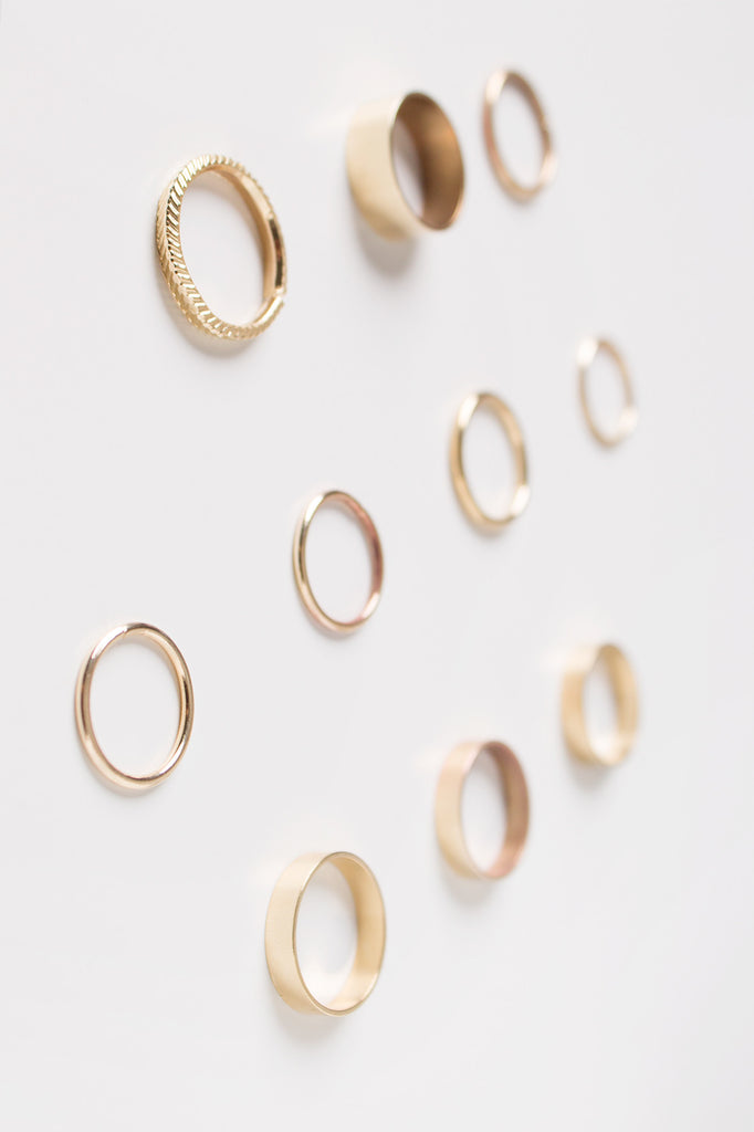 Assorted Gold Rings