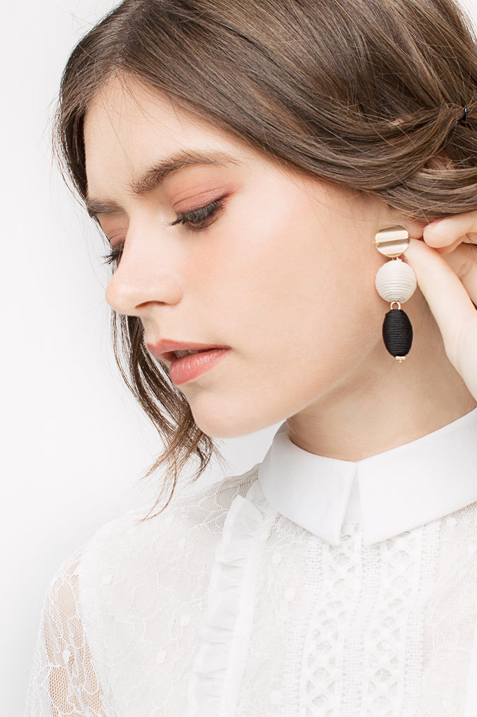Woven Spherical Earrings