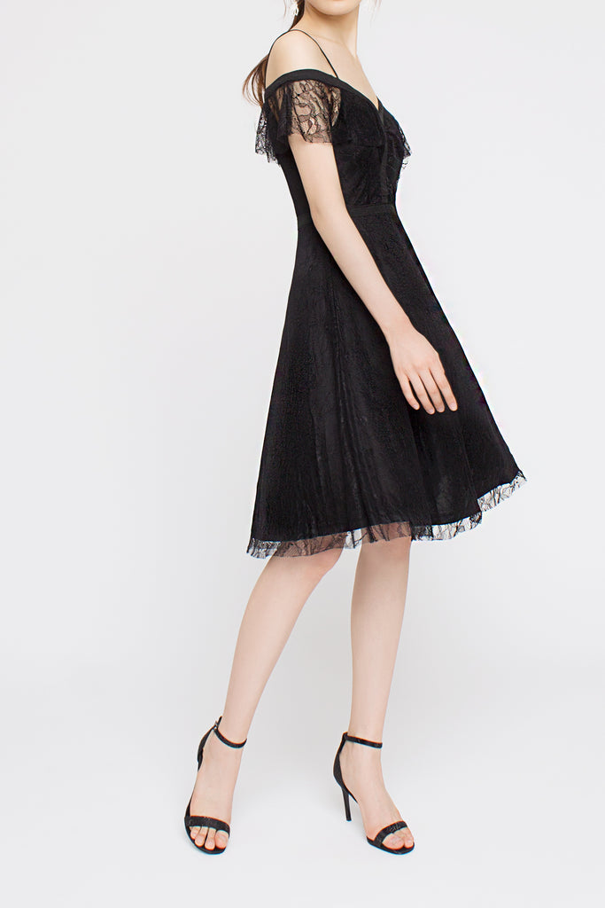 Lace Drop-shoulder Dress