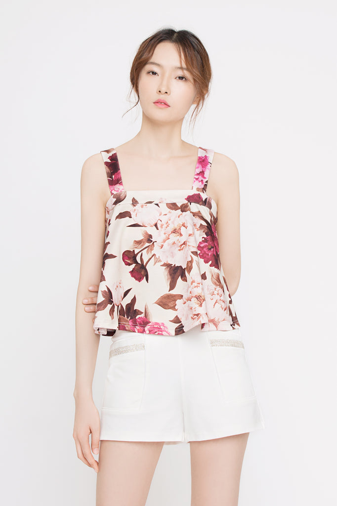 Floral Flare Top