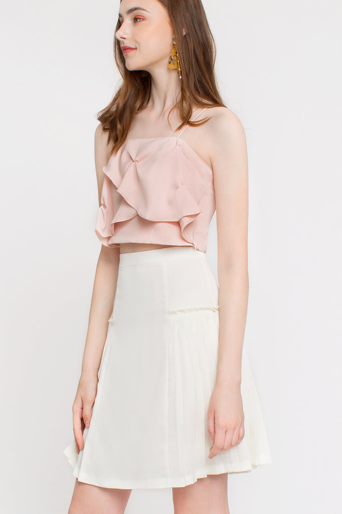 Darted Petal Crop Top
