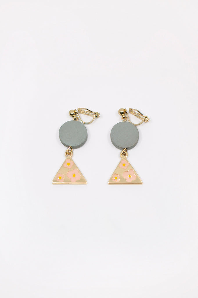 Geometric Floral Earrings