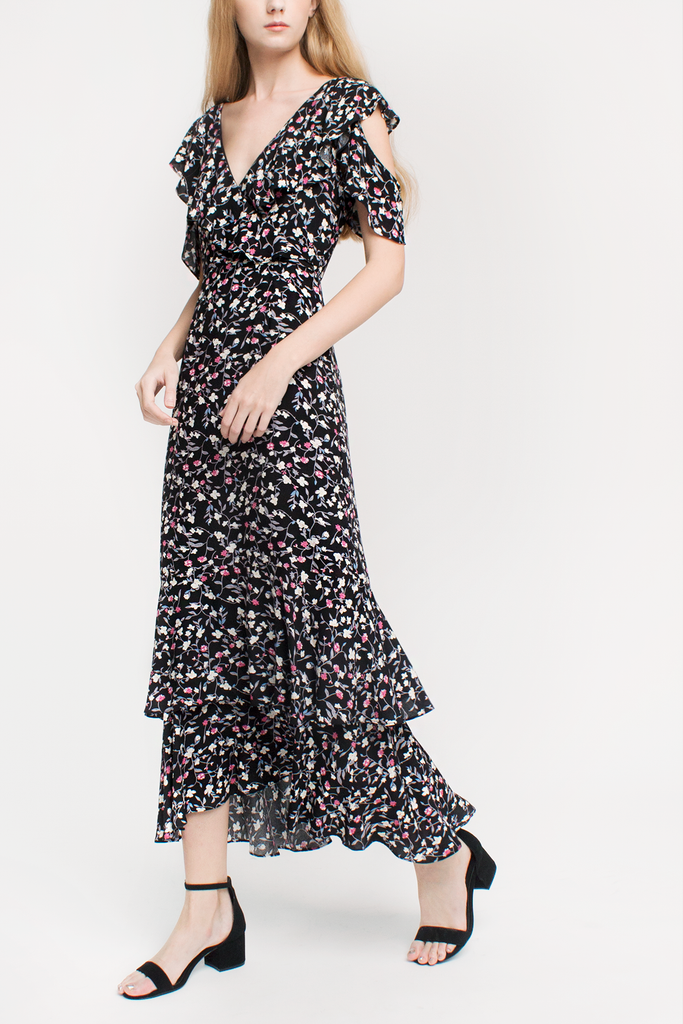 Floral Ruffled Maxi Dress