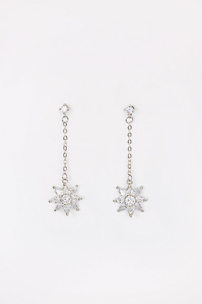 Rhinestone Lily Earrings