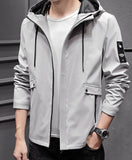 Mens Hooded Street Style Zipper Jacket