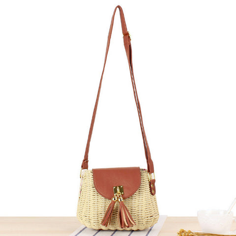 Wicker bag with Tassle