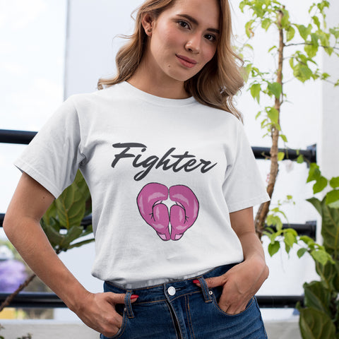 Fighter Pink Ribbon Awareness T-Shirt