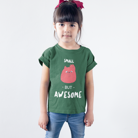 Kids Girls Small But Awesome T-Shirt