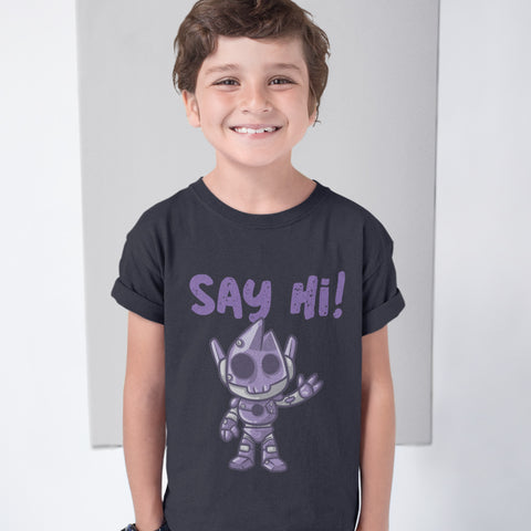 Kids Boys Say Hi T-Shirt