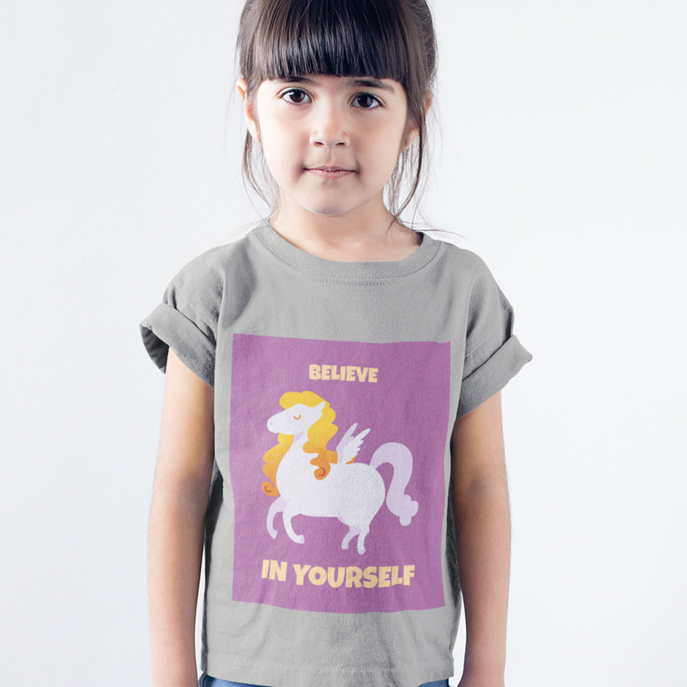 Kids Girls Believe In Yourself T-Shirt
