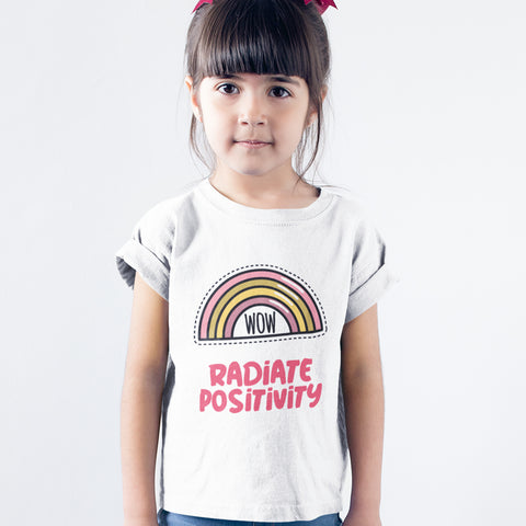 Kids Girls Radiate Positivity T-Shirt