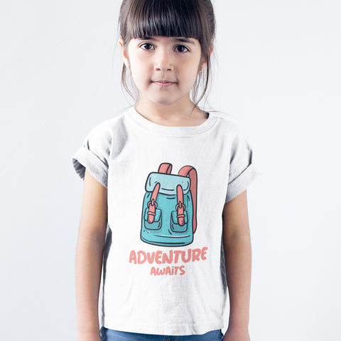 Kids Girls Adverture Awaits T-Shirt
