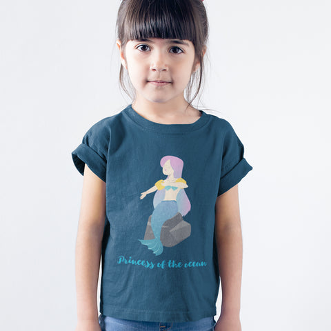 Kids Girls Princess of The Ocean T-Shirt