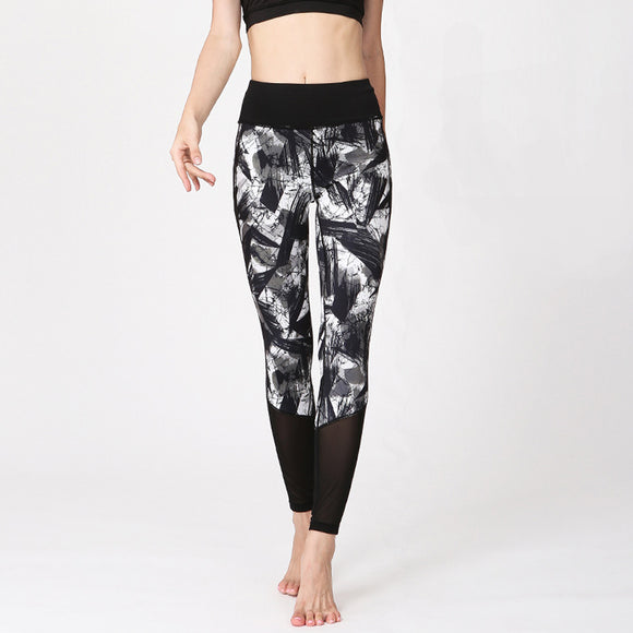 High Waist Yoga Legging with Pattern