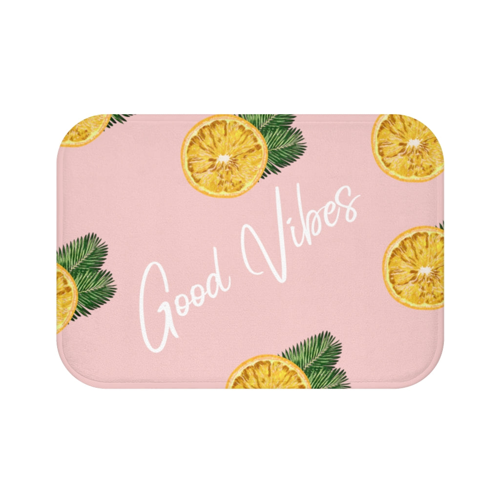 Good Vibes Lemon Bath Mat