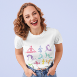 Yoga Poses Print Jersey Short Sleeve Tee