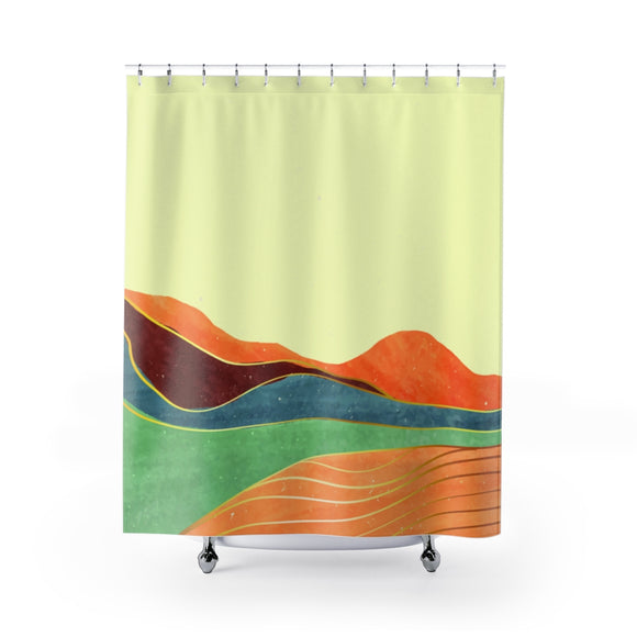 Yellow Toscana Landscape Shower Curtains