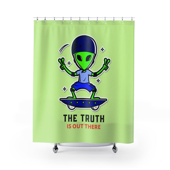 The Truth is Out There Shower Curtains