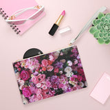 Floral Bouquet Design Vegan Zipped Clutch Bag