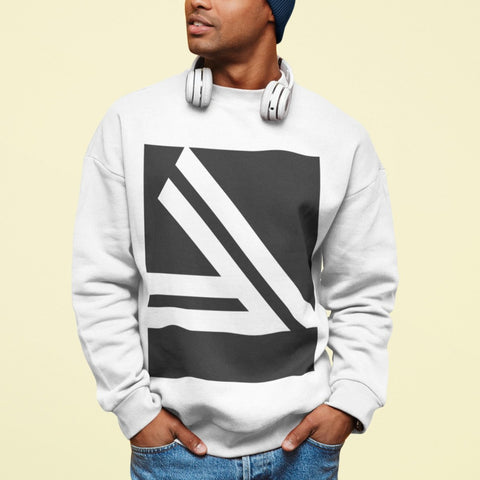 Men's Double Slanted Logo Crewneck Sweatshirt