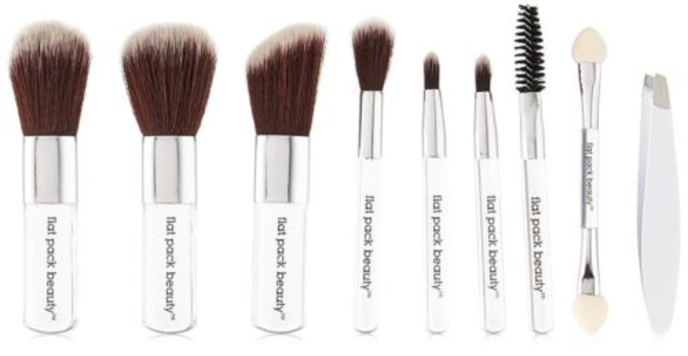 "10 PCS Set 3"" Mini Pocket Size Make Up Brush Set"